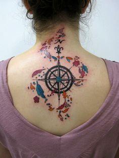 swinging on compass tattoo - Google Search