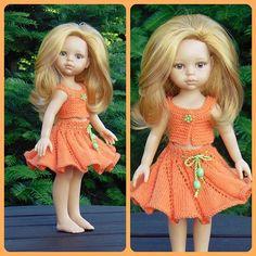 Doll clothes doll skirt top dress Paola Reina handmade