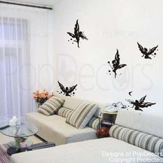 Fairies Decals Butterfly Wall Decal Girl Baby Room Decor Nursery Wall Decal- Butterfly Fairies -Designed by Pop Decors on Etsy, $26.00