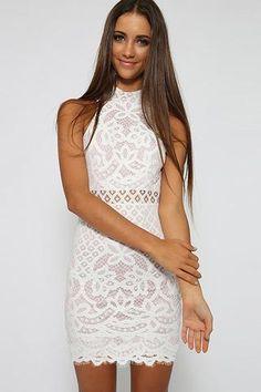 Lace Hollow Bodycon Sleeveless Dress