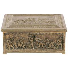 For Sale on - English brass box. Antique Boxes, Custom Furniture, Vintage Antiques, Art Decor, Decorative Boxes, English, Brass, Interior Design, Storage