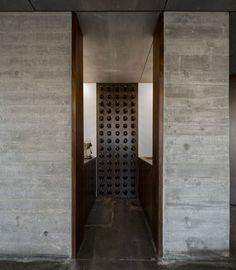 Modern wine storage a the C+P House in Lisbon, Portugal designed by Gonçalo das Neves Nunes
