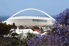 Moses Mabhida stadium in Durban African Vacation, Durban South Africa, Soccer Stadium, City Painting, Pretoria, My Land, Fifa World Cup, Plan Your Trip, Great View
