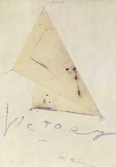 Cy Twombly Victoire | 1984 | bâtonnet à l'huile, peinture à l'huile, crayon et collage | ca. 168 x 119cm