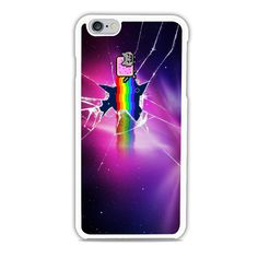 Nyan Cat Galaxy Glass Broken iPhone 6 Case