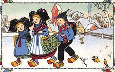 illustration : Hansi, enfants, costumes alsacien