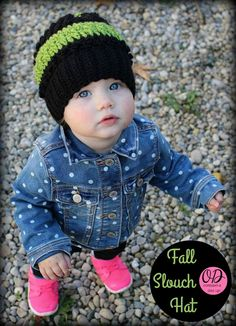 Fall Slouch Hat 12 to 24 months |  free crochet pattern and crochet-a-long via Oombawka Design Crochet