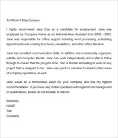 Employment Letter Of Recommendation Template Alluring Custodial Engineer Resume Sample  Httpwww.resumecareer .