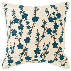 Blossom Crewel Pillow – Blue by Indigo   Pillows & Throws Gifts   chapters.indigo.ca, $34.65