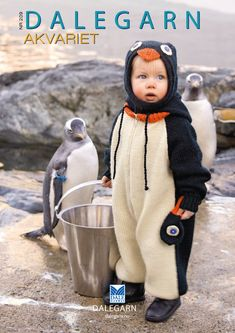 Knitted penguin costume Does this come in big people size? Pinguin Costume, Cute Costumes, Halloween Costumes, Bird Costume, Penguin Love, Big People, Knitting For Kids, Knit Crochet, Baby Boy
