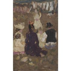 James Wilson Morrice, SEATED FAMILY IN A PARK
