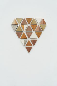 My Attic :: geometric wooden heart wall art