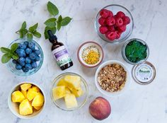 Smoothie bowls are the perfect summer breakfast because you can use up any fresh or frozen produce you have laying around, and pack them full of nutritious offerings such as leafy greens, nuts and seeds, and, of course, herbs.Our Simmer...