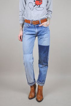 LEVI'S 501 DESPERADO PATCH JEANS - Patched, distressed, and ready ...
