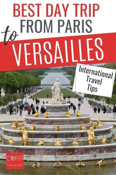 Get the best day trip to Versailles from Paris by train international travel tips so you know when and how to beat the crowds in your #Paris over 40 travel and solo travel. By @CORRTravel #CORRTravel International Travel Tips | Travel Tips and Tricks | Solo Travel Tips | Travel Planning | France Travel Guide | Travel Guides | Solo Travel Destinations | Over 40 Travel | Retirement Travel Ideas Paris Travel Tips, Solo Travel Tips, Europe Travel Guide, France Travel, Travel Destinations, Travel Ideas, Budget Travel, Day Trip From Paris, International Travel Tips