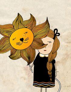 Leo Zodiac Print. Astrology illustration. Leo girl. Wall art. August.. $19.00, via Etsy.