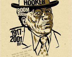 john lee hooker posters | John Lee Hooker Poster- signed by G rego - digital - blues folk art ...