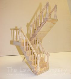 1176 - One-Landing Staircase, Right Turn 180 Degrees [1176] - $162.79 : The Lawbre Company & Architectural Etc, The Home of Fine Scale Miniatures
