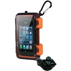 Eco Pod Waterproof Case (Orange) $40    he Eco Pod works with just about every mp3 player and smartphone, is 100 percent waterproof, submersible, and floats.