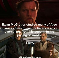 awesome man Ewan McGregor Alec Guinness Obi Wan Kenobi Star Wars