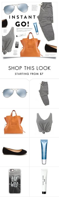 """""""Shades of You: Sunglass Hut Contest Entry"""" by marina-volaric ❤ liked on Polyvore featuring Ray-Ban, Jil Sander, Clarins, Casetify, Bobbi Brown Cosmetics and shadesofyou"""