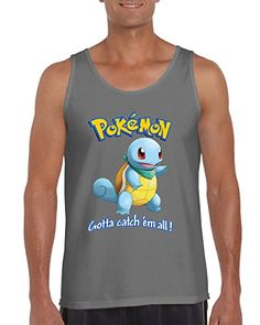 Pokemon Go Squirtle Pokemon Mens Fashion Tank Top (Small 2b8fb16ee
