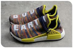 4cf844c43 Pharrell x adidas NMD Hu Trail Multicolor Noble Ink Bold Yellow-Footwear  White. Human Race ...