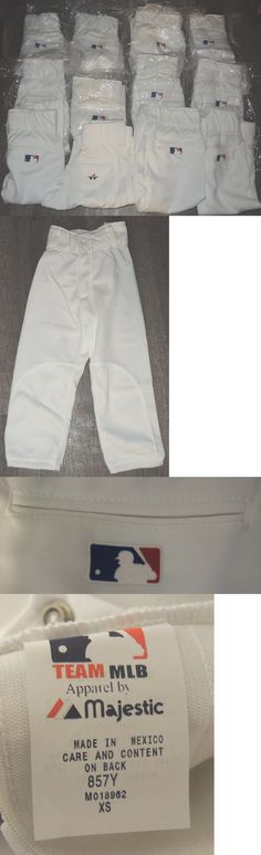 Baseball Pants 181349: Obo-Lot New Team Mlb Majestic Alleson Athletic Youth Baseball Pants-Sz-Xs White -> BUY IT NOW ONLY: $75 on eBay!