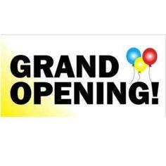"Digital Vinyl ""Grand Opening"" Banner , x - Sam's Club Outdoor Banners, Outdoor Signs, Grand Opening Banner, Promote Your Business, Digital, Banner Ideas, Business Ideas, Party Ideas, Ideas Party"