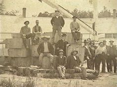 Workers at Woodbury Granite Company in Hardwick, VT