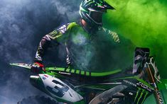Download wallpapers Eli Tomac, rider, Kawasaki KX-450 Supercross, motocross, Monster Energy Supercross