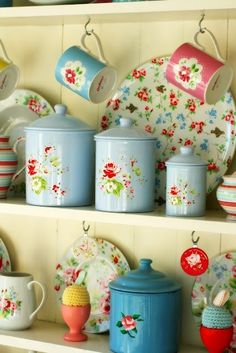 Vintage Kitchen collectibles- love the canisters.