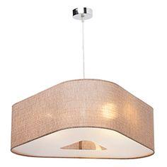 Lámpara de techo 3 luces Elora marrón