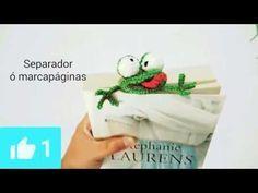 Marcapáginas, separador de libros ranita amigurumi crochet - YouTube