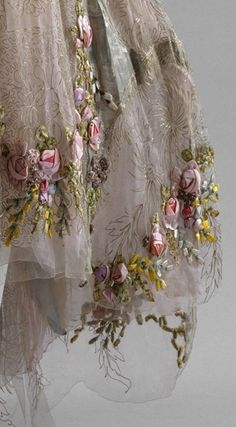 Detail from dress by Boué Souers
