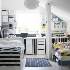 Add a workspace to your teens room. The LINNMON series is customizable with tops and legs in different sizes. Now, each child can create a space of their own design.