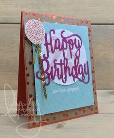 Quarter Century | Stampin\' Up! | Happy Birthday Gorgeous | Milestone Moments #literallymyjoy #twentyfive #twentyfifth #quartercentury #balloon #birthday #BerryBurst #PowderPink #heatembossing #FoilFrenzyDSP #20172018AnnualCatalog