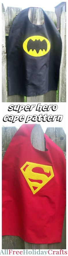 Superhero Cape Pattern - How to make a cape for kids.