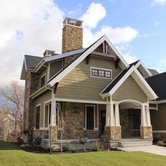 Interesting Craftsman style home and color combinations used. Want to learn how to save on your shopping? http://GoGetSave.com and watch how