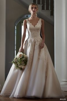 bhldn spring 2016 bridal gowns gorgeous a line ball gown wedding dress v scallop neckline lace embroidery bodice style mckinley