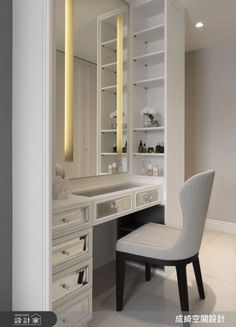 Trendy bedroom wardrobe with dressing table Wardrobe With Dressing Table, Dressing Room Decor, Bedroom Dressing Table, Dressing Table Design, Dressing Room Closet, Dressing Tables, Dressing Rooms, Bedroom Closet Design, Master Bedroom Closet