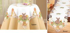 Easter Bunny and Eggs Table Linens for your Holiday Celebration