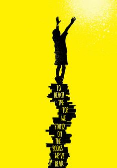 To reach the top, we stand on the books we've read... This could be a neat bulletin board with pictures of the kids on top reaching!