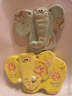 Лепка Слоны Тесто соленое фото 1