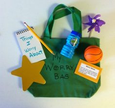 Worry Bag! I could have used this the other day with a second grader... will make one SOON :)