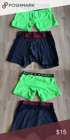 NWOT- Men's boxer briefs Brand new- Never worn  American Eagle Size: Large Never worn  Abercrombie & Fitch Size: Medium  Never worn Abercrombie & Fitch Underwear & Socks Boxer Briefs