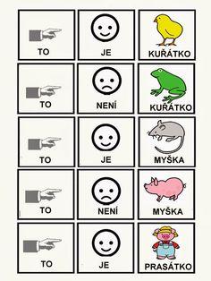 Pro Štípu: Skladame jednoduche vety Polish Language, Pictogram, Preschool Activities, Playing Cards, Education, Learning, Language, Speech Language Therapy, Kindergarten Activities