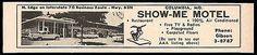 Show Me Motel Ad Columbia Missouri 1964 Free TV Radio Playground Roadside Travel