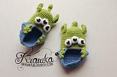 Ravelry: Baby booties - Aliens pattern by Kamila Krawka Krawczyk