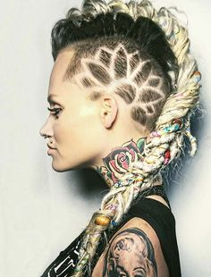 awesome 40 Undercut Hairstyles with Hair Tattoos for Women